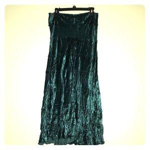 Teal/Green Full Length Skirt